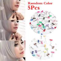 Muslim Hijab Pins Diamond Pearls Brooches Scarf Shawl Clip Headdress Fashion