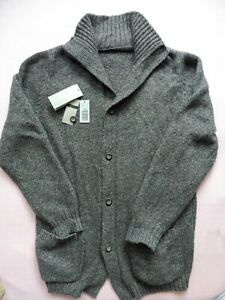 AVON CELLI Grey CASHMERE CARDIGAN SWEATER Size 48 Made in Italy