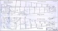 JODEL D11 D112 BLUEPRINT PLANS RARE DETAILED DRAWINGS 1950's HISTORICAL ARCHIVE
