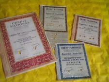 Vintage share certificate Stock Bonds 1942 French Credit national War damages 3