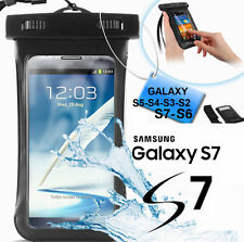 Custodia subacquea impermeabile Galaxy S7,S6,S5.Cover mare,sub + laccetto collo