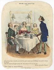 England/Karikatur/Satire : Whims and oddities No. 21. - Lithographie, um 1840