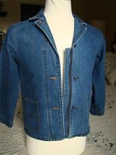 Girls Gap Jean Jacket Blazer Buttom and Zipper Stretch Size Larger/10 Blue @H
