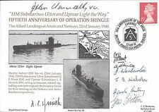 HMS ULTOR UPROAR NAVY MULTI SIGNED BY VC J KEANNEALLY + 7 1944 SALERNO LANDINGS