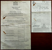 Income Tax & Land Tax Invoice & Receipt for Year 1933 -1934