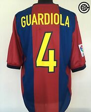 GUARDIOLA #4 Barcelona Nike 1998/99 Home Football Shirt Jersey (L)