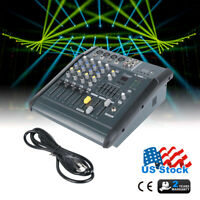 180 Watt 4 Channel Professional Powered Mixer power mixing Amplifier Amp 16DSP