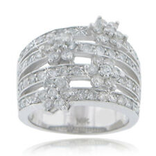 2.55 ct Ladies Round Cut Diamond Anniversary Ring In 18 kt White Gold