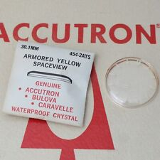 Accutron Spaceview 30.1mm Crystal Part #454-2AYS New Old Stock Armored Yellow