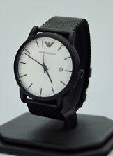 Emporio Armani Men's Black Stainless Steel Mesh Bracelet Watch AR11046, New