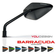 Barracuda - Pair of Motorcycle Mirrors - A-Version - Universal - Black