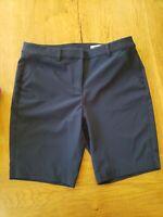 Greg Norman Flat Front Women's NAVY Blue Golf Shorts - Size 6