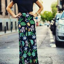 Zara Floral Printed Wide Leg Trousers Size X LARGE BNWOT