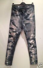 Monki Jeans Pantalon Coton Marbre gris M 38 40