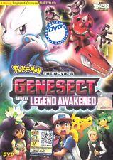English Ver Pokemon Movie 16 : ExtremeSpeed Genesect: Mewtwo Awakens DVD Anime