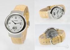 Eurochron Funk Armbanduhr (deutsches Funkwerk) Edelstahl Leder  SE.2402-2100