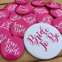 TEAM BRIDE HEN PARTY BADGES Hen Night Accessories Party Bag Fillers Hen Favours