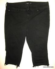TORRID Black Jegging SKINNY Capri Jeans 20 S JEGGINGS High Rise Stretchy Cut Off