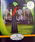 Gemmy 12 Foot Tall  Vampire with Sign Lighted Airblown Inflatable Halloween New