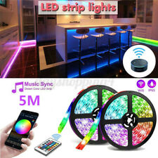 16.4ft 300Led Alexa Smart Home Wifi Wireless Rgb Waterproof Strip Neon Light Kit