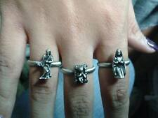 3 anelli regolabili con nativita' pastori maria gesu giuseppe presepe shepherd