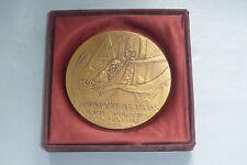 grande médaille en bronze l'autoroute des titans 1989 paris Rhin Rhône N.BORRA