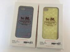 2x NEW Coach iPhone 5 5s Signature Case Cover in Box coach F65336,  F64557