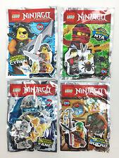 Lot 4 Figurine Minifigure Lego Ninjago Cyren Nya Zane Bucko Limited Edition Neuf