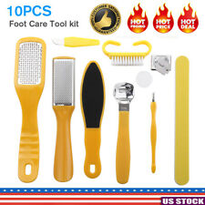 10Pcs/Set Pedicure Kit Rasp Foot File Callus Remover Scraper Nail Care Tool kit