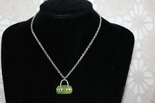 EQUIP 42 cm Silverplate Chain Necklace with 2.5 Enamel Pendant. Med Clasp (B247)