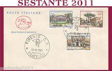 ITALIA FDC CAVALLINO 1981 VILLA CIMBRONE PIGNATELLI CAMPOLIETO FIRENZE H312