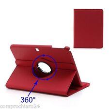 Custodia Pieghevole 360° Rossa Ecopelle per Samsung Galaxy Tab 3 10.1 Cover
