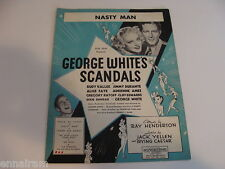 Nasty Man 1934 sheet music George White's Scandals Rudy Vallee Jimmy Durante
