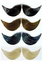 baffi artificiali finti LORD modellabili pettinabili cm 12 nero, marrone, grigio