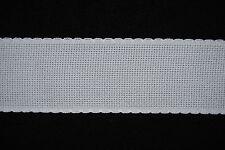 bande à broder blanche aïda 5.5 largeur au choix/au mètre