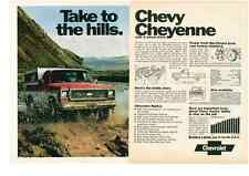 1973 CHEVROLET CHEYENNE PICKUP TRUCK  -  CLASSIC ORIGINAL 2-PAGE AD
