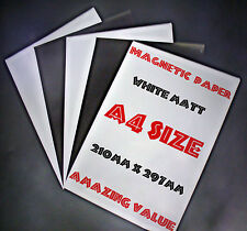 MAGNETIC Photo Paper Ideal for making Fridge magnets, 5of x A4 white matt sheets