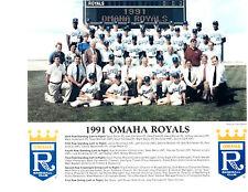 1991 OMAHA ROYALS 8X10 TEAM PHOTO KANSAS CITY BASEBALL