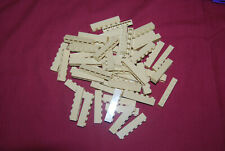 R Lego Lot 50 Tan Bricks 1 x 6 GUC 3009 6754 10211 4954 3185 71006 7194 10214