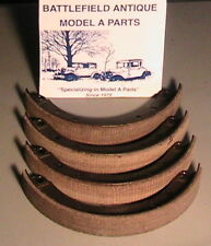 1928 1929 1930 1931 Model A Ford Brake Shoes with Molded Woven Linings 2 Wheels.