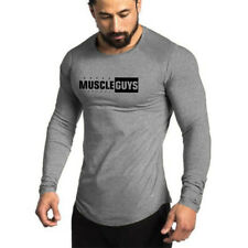 Men's Shirt Long Sleeves Casual Slim Sports Tide Fitness Cotton  Men's Clothing