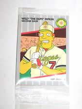 1994 SIMPSONS SERIES II WILLY THE DUPE DIPKIN B1 SEALED PROMO CARD! RARE!