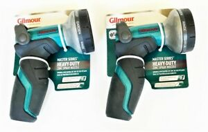 2 Gilmour Heavy Duty Thumb Control Garden Hose Spray Nozzle 8 Pattern 410GWT