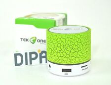 Cassa TeKone TO-BT05 Mini Speaker Bluetooth Wireless Luce Led Microsd Verde hsb