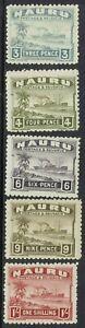 NAURU 1924 SHIP RANGE TO 1/-  ROUGH PAPER