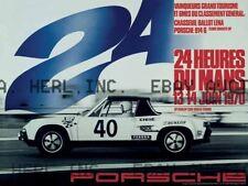 Porshce 914 1970 24 hour Le Mans racing ca 8 x 10 print prent poster