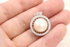 AAA++ 11-12mm South Sea Akoya Genuine White Pearl Pendant Necklace 18 Inch