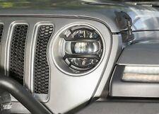 Rugged Ridge 11230.21 Elite Headlight Euro Guards Fits 18-19 Jeep Wrangler (JL)