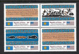 Palau  -  Scott # 1-4  1983 MNH Block of 4 .......................02N...  # 302