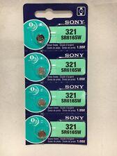 4 Sony 321 SR616SW Silver Oxide watch batteries 1.55V Exp date 2020 USA SELLER